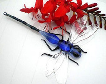 Glass Dragonfly Sculpture