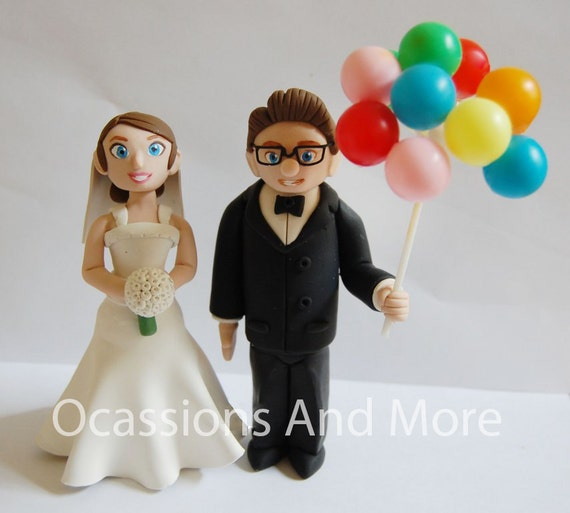 UP Carl and Ellie Balloons Wedding Cake Toppers