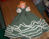"""Spruce Green pajama bed doll 18 1/2"""" long"""