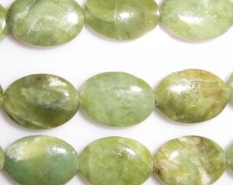 8X10mm Oval Olivine Beads Genuine Natural 15''L 38cm Loose Beads Semiprecious Gemstone Bead   Supply
