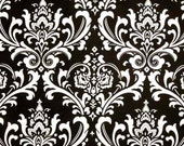 Designer Fabric- Premier Prints Ozborne Black and White Damask- Fabric by the Yard- Elegant Wedding Fabric- Modern Drapery Fabric-