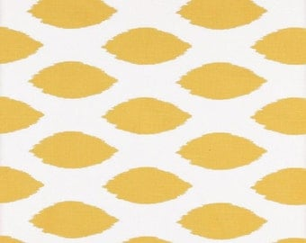 Yellow Fabric By the Yard- Premier Prints Chipper Corn Yellow White Ikat- SHIPS FAST- 1 or more Yards- Upholstery Home Decor Textiles
