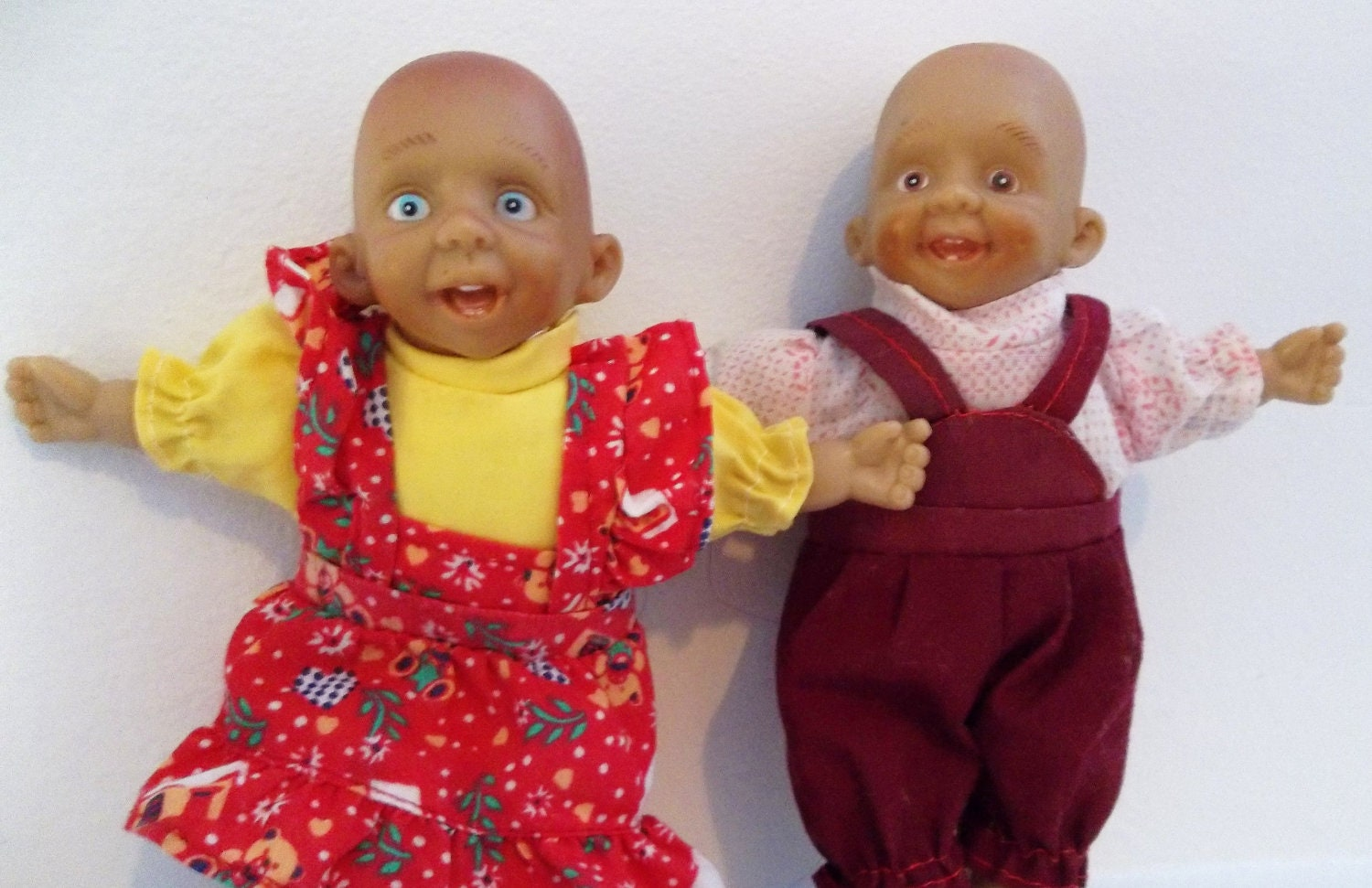 Ugly Creepy Baby Doll Twins Vintage Jaxxs Gloobee Bunch