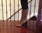 SALE Brown leather key boots.