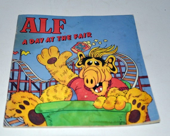 1987 ALF A Day At The Fair Children's Paperback Book