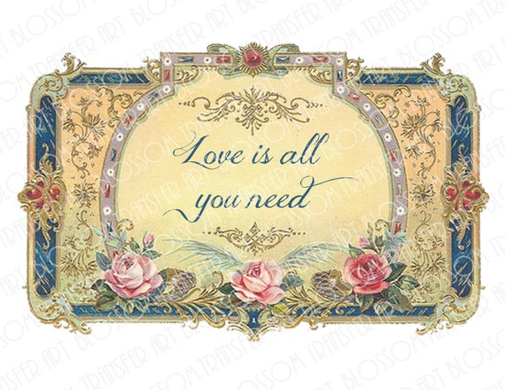 All You Need Is Love Quotes Vintage Image By