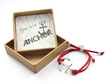 You are my anchor and love bracelet