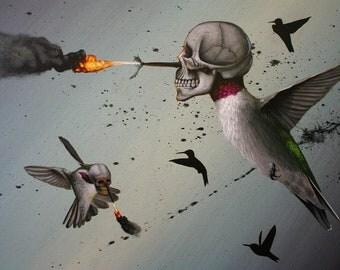 """Robert Bowen Art Sticker - """"Hiders"""" (Limited Edition)"""