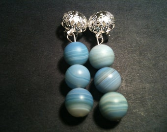 Skyblue Clip-on Earrings