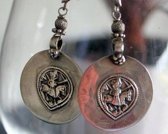 Antique Tribal Silver Earring