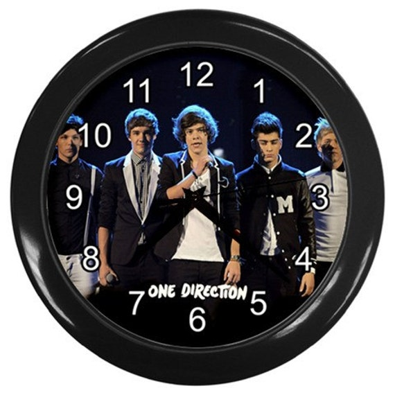 Personalised One Direction Wall Clock Nursery Decor Bedroom