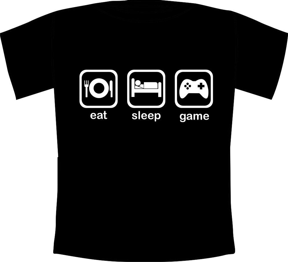 Kids eat sleep game funny gaming fanatic t shirt for T shirt design game