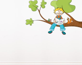 Ludo tells a story - Wall Decal - Color Print