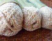 "Organic Cotton Yarn - Nature's Choice ""Macadamia"" - 3 Balls"