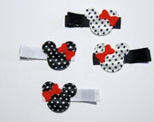 2 pairs or Minnie Mouse barrettes