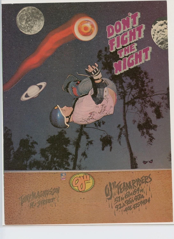 Tony Magnusson Santa Cruz Skateboard Ad Vintage Advertisement