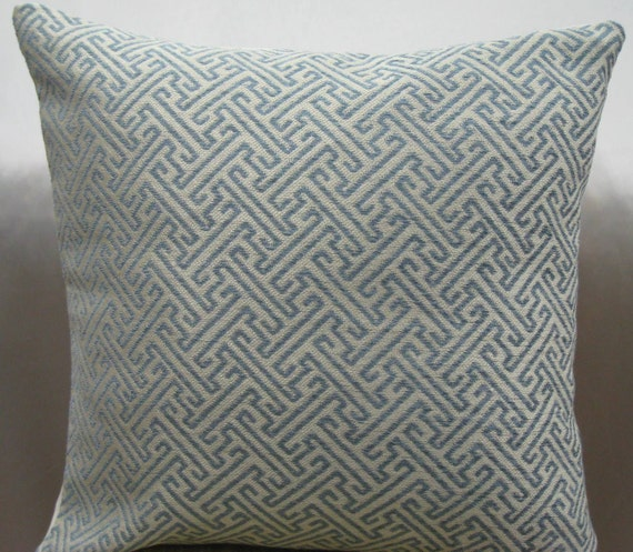 Greek key decorative pillow cover-20x20 inwoven