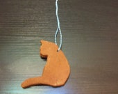 Cat Looking to the Left - Cinnamon Ornament