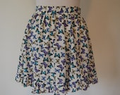 mini summer Skirt, Butterfly Print, Soft and Flirty, Romantic and easy wear size small