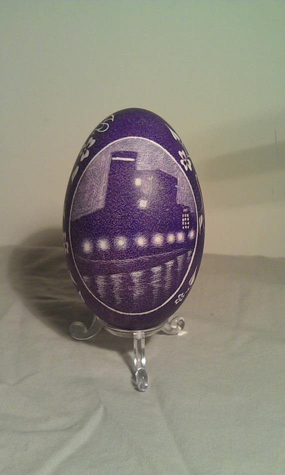 Waterfire - Etched Goose Egg w/ Providence Skyline & Lonely Road