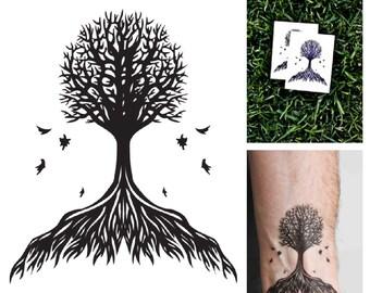 Tree - temporary tattoo (Set of 2)