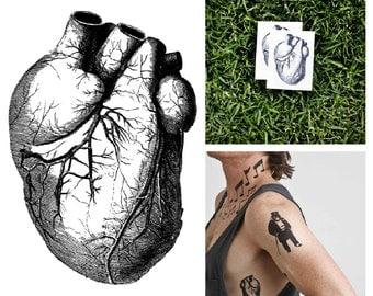 Heart - temporary tattoo (Set of 2)