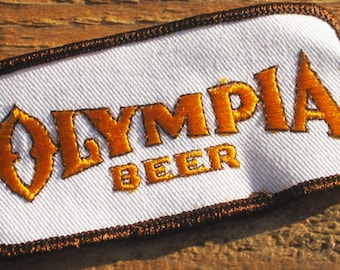 Vintage 70s Olympia Beer Sew-On Patch