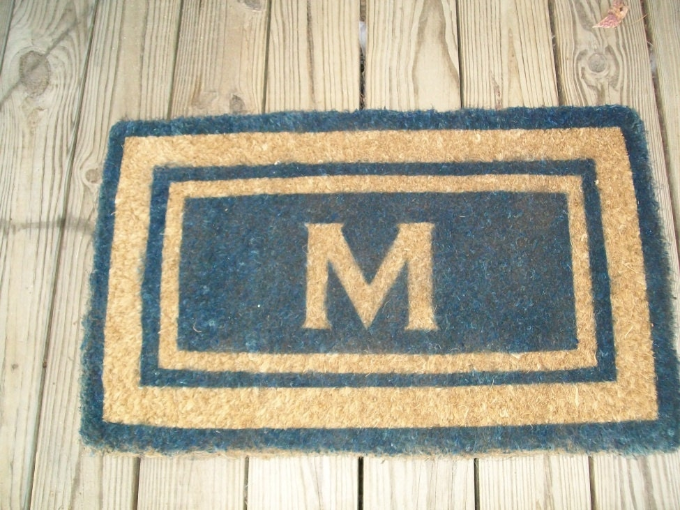 personalized front door mat. Black Bedroom Furniture Sets. Home Design Ideas