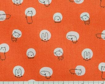 Spotlight in Orange - Monsterz Mash Fabric - Kids Quilting Fabric - Cloud 9 Organic Cotton - Half Yard