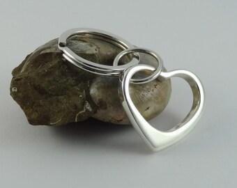 Silver Heart Keyring