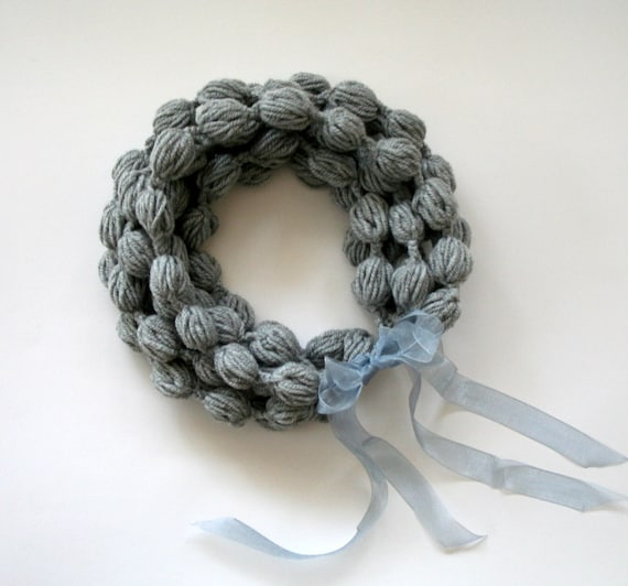 Gray Loop Scarf-FREE SHIPPING