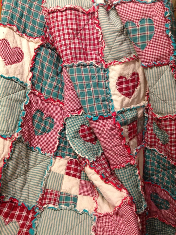 Homespun And Cotton Rag Quilt Flannel Backed By