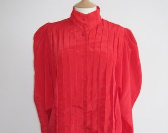 Red Vintage Silky Shirt