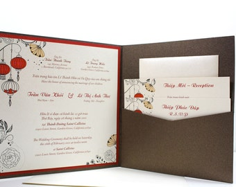 Wedding invitations in english and vietnamese
