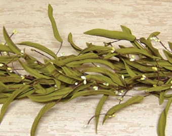 Berry Garland | Citron Berry Herbal Garland | Green Leaf Garland | 40 inch | FREE SHIPPING USA | Ready-to-Ship