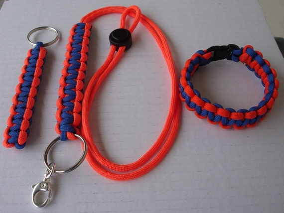 matching paracord bracelet lanyard and key fob