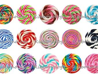 1 Inch Lollipop Bottle Cap Graphics 4x6 15 Images Per Sheet