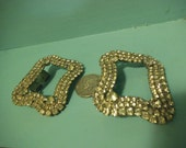 2 Rhinestone Belt Buckle Pieces