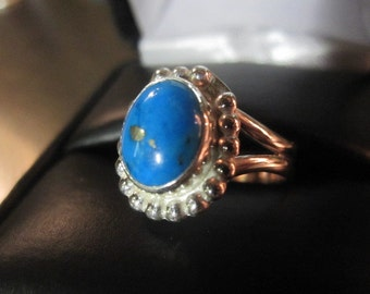 Turquoise and Sterling Silver Ring - by Tom Nugent