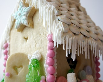 Gingerbread house, made from scratch