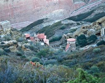 Ridge above the Davit Gareja Monastery in the Republic of Georgia- a color photograph