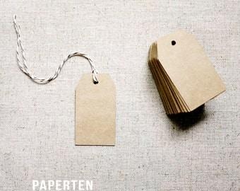 Kraft Gift Tags (Small) - Blank Shipping Tags - Shipping Label Gift Tags - Kraft Tags - Set of 20 (Item Code: W505)