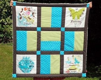 Turquoise Brown quilt