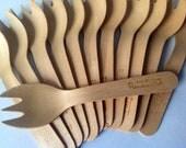 10 Vintage RiteFork Wooden Cutlery Set