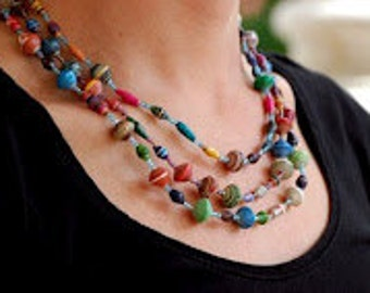 Ugandan Paper Bead Necklace