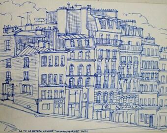 Montmartre, Paris Street Scene