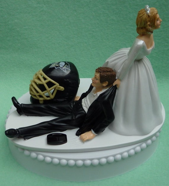 wedding cake toppers pittsburgh pa wedding cake topper pittsburgh penguins pens hockey themed w 26582