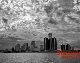Detroit Skyline across Detroit River - Image 01506