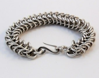 Argentium Silver Bracelet - Inca Puño Weave