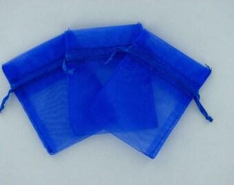 Royal blue organza bags 3 inch x 4 inch 12 pieces